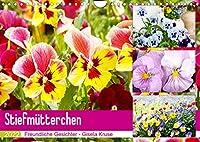 Stiefmuetterchen Freundliche Gesichter (Wandkalender 2022 DIN A4 quer): Froehlich stimmende Gesichter von Stiefmuetterchen und Hornveilchen (Monatskalender, 14 Seiten )