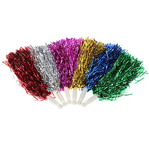 Bazaar Metallic Cheerleader Poms Dance Party Welkom Kostuum Streamer