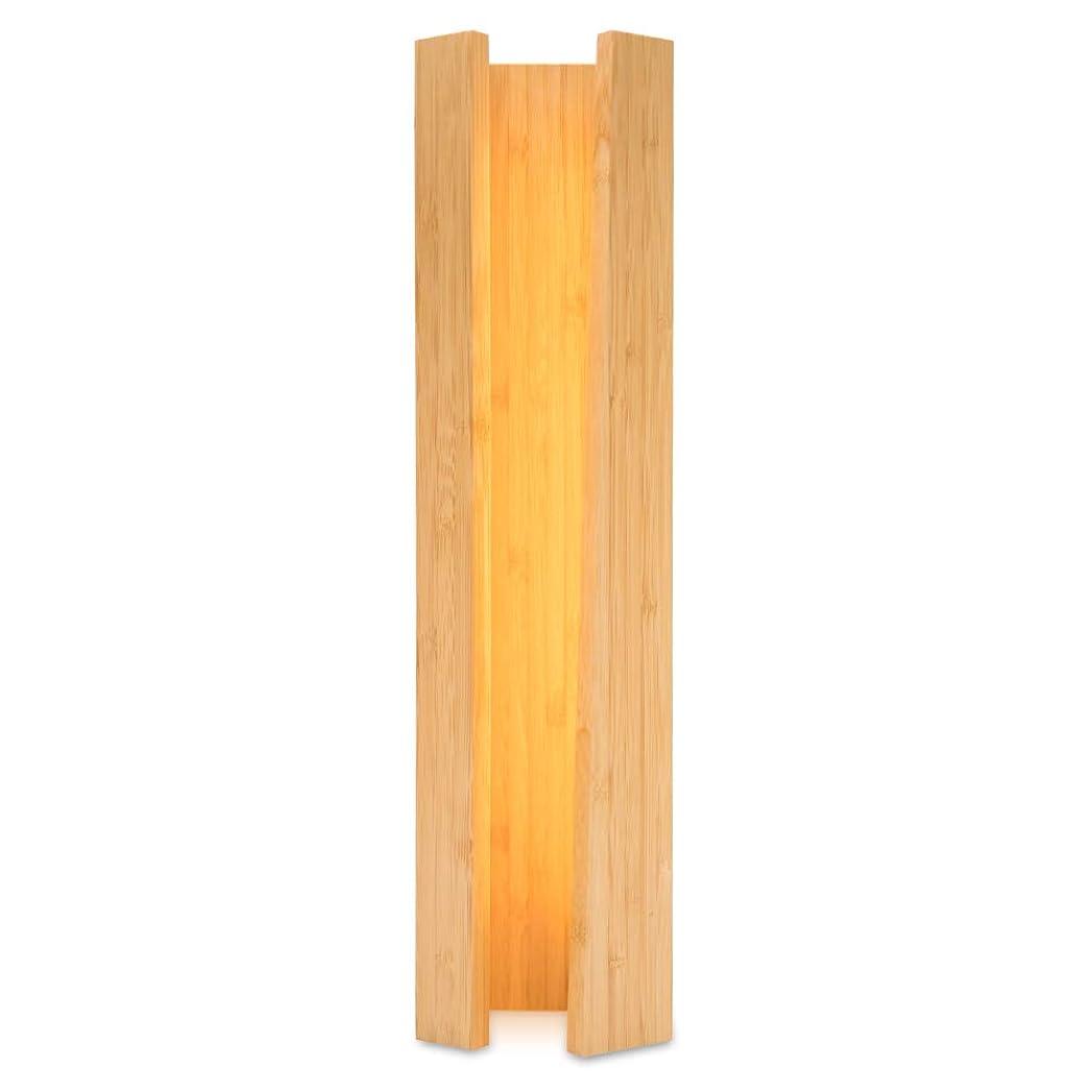 地上でオペラスカリーHzfluo スタンドライト 間接照明 ベッドサイドランプ テーブルランプ 竹製 癒しの光 LEDデスクライト 寝室 アンティーク 和風 雰囲気作 明るさ調節可能