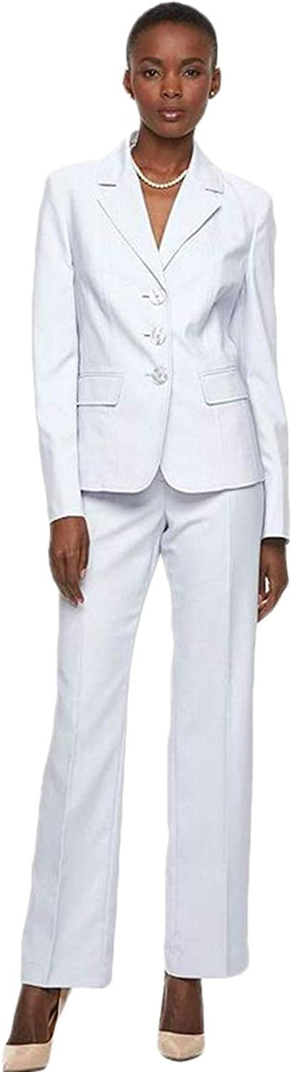 WZW Women Pant Suits Slim White Tuxedos Peaked Lapel Suits Three Button Business Suits