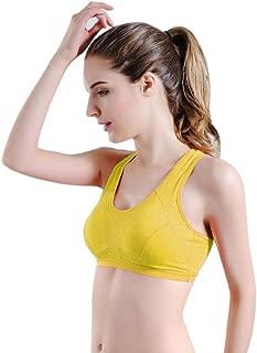 Sutiã esportivo feminino sólido da REYO para ioga, fitness, elasticidade, ginástica, sem costura, costas nadador, push up, corrida, acolchoado