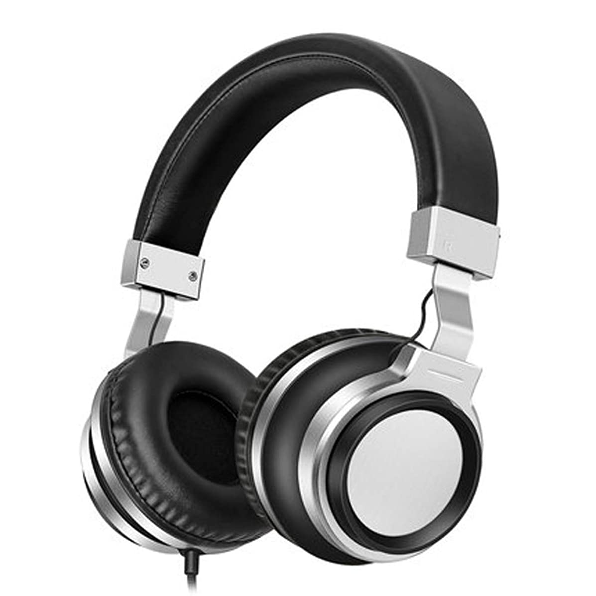 PXYUAN Gaming Headset PS4 Headset, Xbox One Headset with Noise Canceling Mic, Wired Earphone Head-Mounted subwoofer Mobile Computer Universal line Control Boys and Girls Cute Fashion Headphones-Black