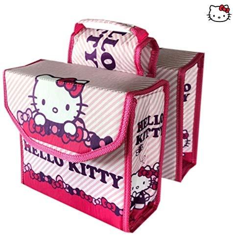 -Hello Kitty Kinderfahrrad - Fahrradtasche Gepäckträger Doppeltasche