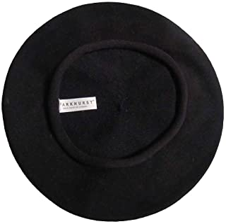 Parkhurst of Canada 10-1/2 Inch Cotton Knit Beret Black