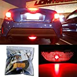 iJDMTOY Super Bright Brilliant Red LED Conversion Kit Compatible With 2014-2016 Scion tC Rear Fog Light Assy