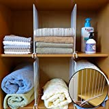 Evelots Closet Wood Shelf Divider-New Extra Brackets for Stability-Steel-Set/8