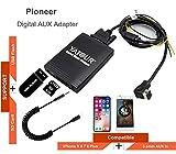 iPhone adattatore AUX stereo, ingresso audio digitale auto interfaccia con scheda SD, iPod, MP3, USB, AUX da 3.5mm, lightning lettore musicale per pioneer testa unità deh-p900keh-p6200-w meh-p055deh-88(m06-pion)