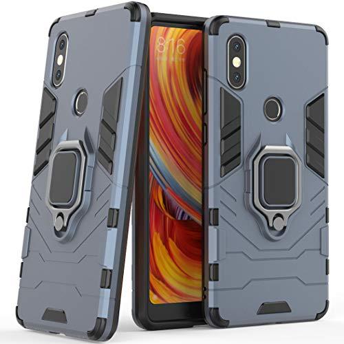 Xiaomi Mi Mix 2S Case, Xiaomi Mi Mix 2S Stand Case, Xiaomi Mi Mix 2S capa antiderrapante, capa com alça de dedo com suporte de anel rotativo de 360 graus para Xiaomi Mi Mix 2S de 5,99 polegadas
