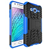 Skmy Galaxy J3V Case, J3 Case, J36V Case, Military Tires Leather and Kickstand with Shockproof and Anti-Scratch and Non-Slip Case for Samsung Galaxy J3 / J3 V, Galaxy Sol/Sky, Express Prime(Blue)