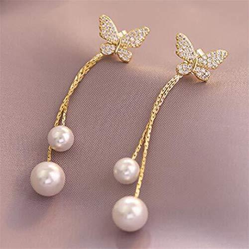 LPOQW Ladies Tassel Earrings Butterfly Drop Earrings Cute Hanging Women Earrings Summer Jewelry Girls Party GIfts