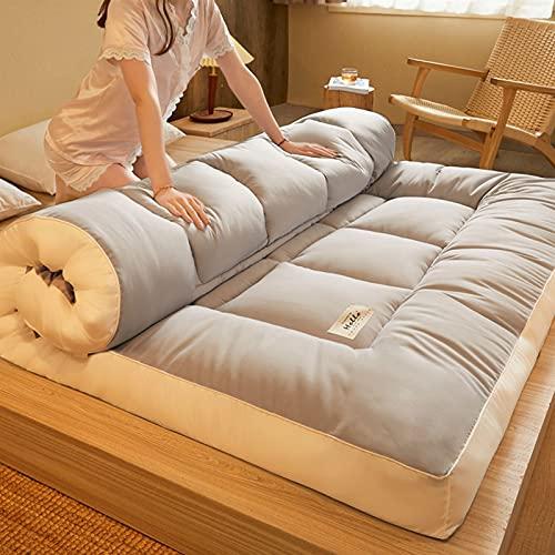 ZQW Colchón de futón Plegable, colchón de Suelo Grueso, colchón de Suelo de Tatami, colchón de Camping portátil, colchón de Dormir para niños, sofá Cama Enrollable