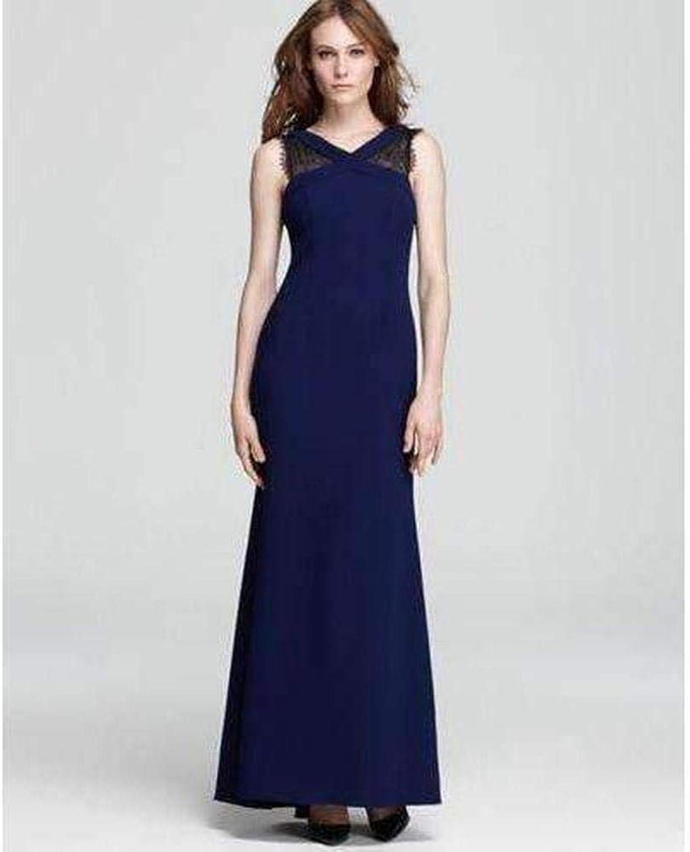 BCBGMAXAZRIA Evans Lace Insert Evening Dress