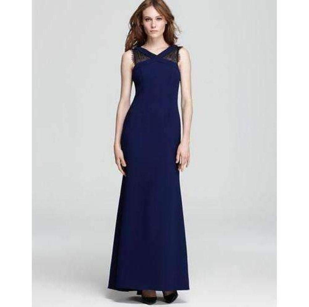 Available at Amazon: BCBGMAXAZRIA Evans Lace Insert Evening Dress