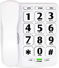 $29 » HePesTer P-02 Amplified Large Button Corded Phone for Senior Home Landline Telephone Wall Mountable Elderly Phones for Low...