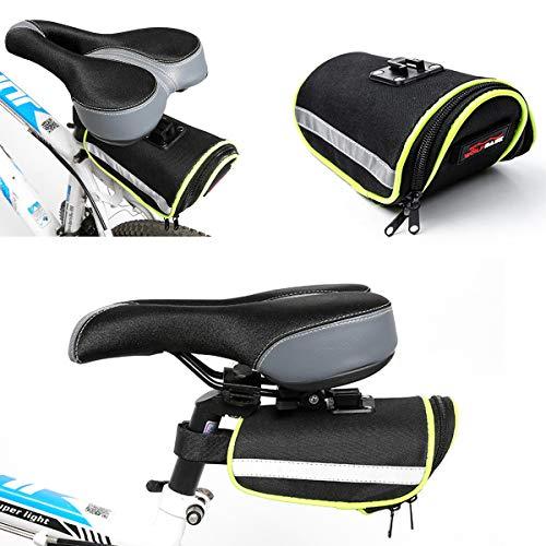 MXBIN 600D + PE Impermeable Bicicleta Bicicleta de montaña Alforjas Bolsa Asiento...