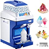 VEVOR 110V Commercial Ice Shaver Crusher 441LBS/H with 11LBS Hopper, 300W Tabletop Electric Snow Cone Maker 320 RPM Rotate Speed Perfect For Parties Events Snack Bar