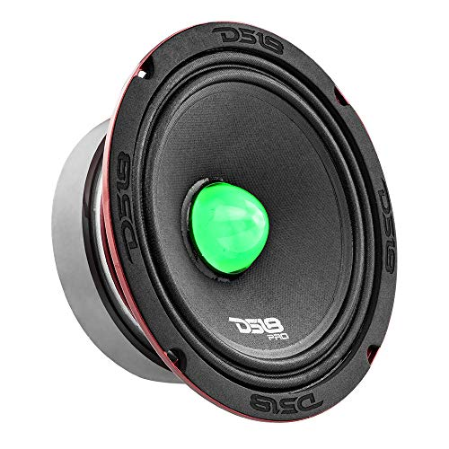 """DS18 PRO-X6.4BMRGB Loudspeaker with RGB Light Bullet - 6.5"""", Midrange, 500W Max, 250W RMS, 4 Ohms - Premium Quality Audio Door Speakers for Car or Truck Stereo Sound System (1 Speaker)"""