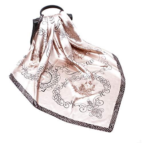 Aisoway Cuadrado Grande De La Bufanda De Seda De Mujer Sensación De La Vendimia Imprime Neckchief Pelo Pañuelos Pañuelo Retro