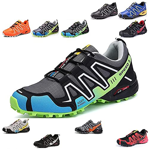 MIAOML Botas De Senderismo Impermeables para Hombre Techo Bajo Ligero Casual Zapatos Antideslizantes Zapatillas para Camping Running Multideporte Montaña,J-46 EU