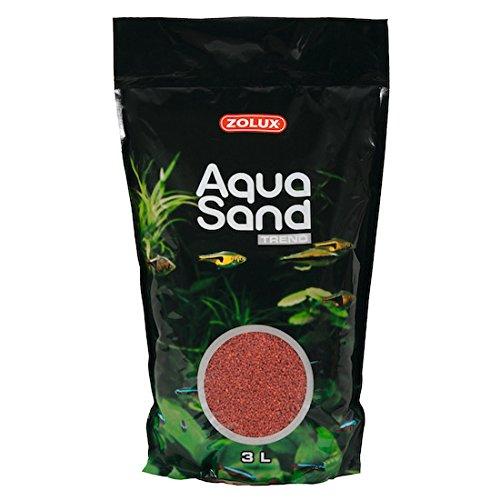 Zolux Aquasand Trend Sable d'Aquarium pour Aquariophilie Rouge Basque 3 L