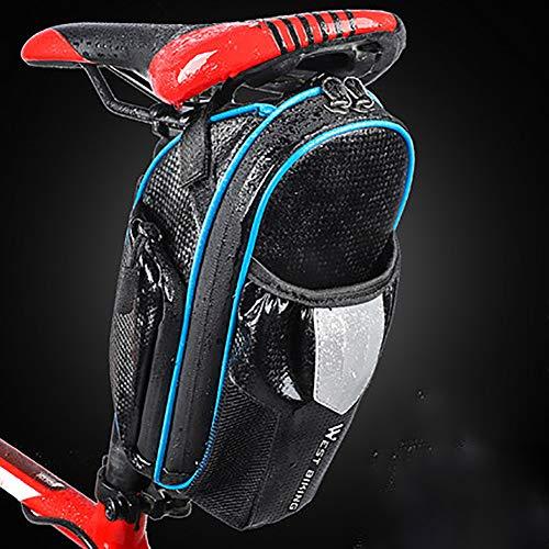 SHARESUN Fietszadeltas, mountainbike zitzak, waterdichte fietszitzak, met super mesh tas, reflecterende strepen en achterlichthaak, geschikt voor buitenrijden
