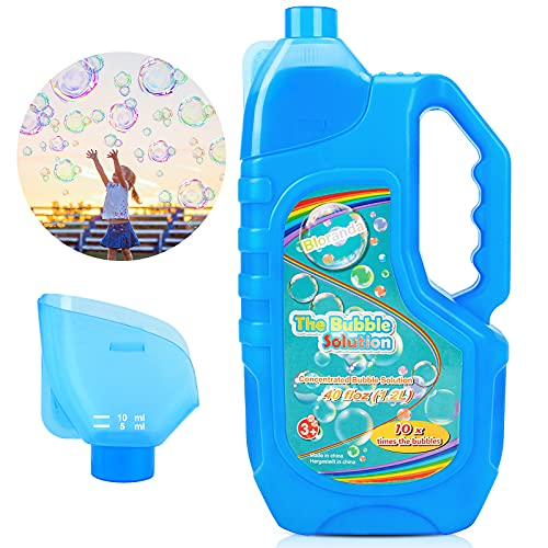 Bloranda Bubble Solution Refill (Up to 3 Gallon) Concentrated Giant Bubble Liquid 40 Ounce with Easy...