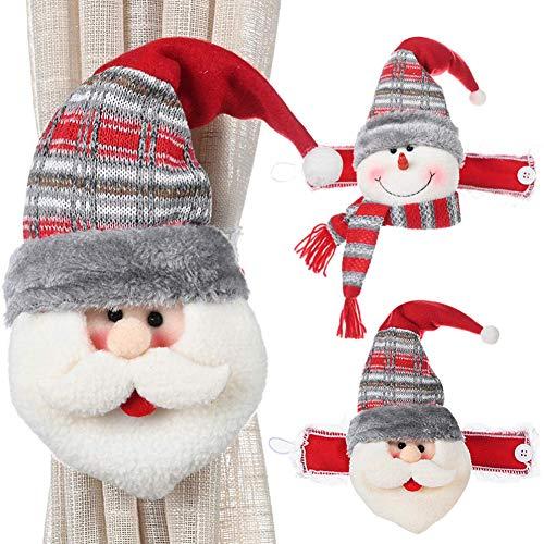 WENTS Hebilla para Cortina de Navidad Hebilla de Cortina de Navidad diseño de Papá Noel muñeco de Nieve...