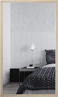 Espelho Moldura Decorativa Grande Madeira Carvalho para Banheiro Sala Quarto