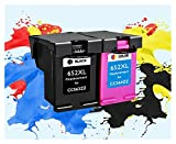 JWGD 652XL Cartucho de tinta de repuesto para HP652 aplicable a HP 652 XL aplicable para HP Deskjet 1115 1118 2135 2136 2138 3635 3636 3835 4535 (color 1BK)