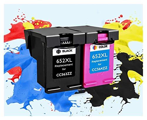 LIUYB Reemplazo 652XL Cartucho de Tinta for Hp652 aplicable for HP 652 XL aplicable for HP Deskjet 1118 2135 2136 1115 2138 3635 3636 3835 4535 (Color : 1bk 1color)