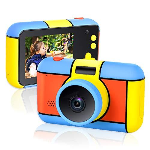 Richgv Digitale mini-camera, voor kinderen, videocamera met 2,4 inch HD-display, speelgoed en cadeau voor kinderen ouder dan 3 jaar