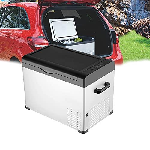 Refrigerador de 12v para Autocaravana, Refrigerador de Autocaravana, Refrigerador de 12 Voltios, Congelador PortáTil, Refrigerador de Coche, Compresor EléCtrico para Autocaravana,Blanco,30L