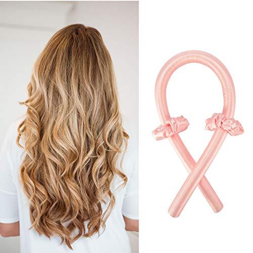EPODA Lockenwickler, Silk Hair Curler, Heatless Curler, Haar Locken Curler Ohne Hitze Machen Haar-Styling-Tools für Langes Mittellanges Haar für Damen (Rosa)