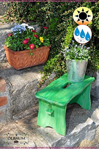ÖLBAUM - Gartenhocker in Moosgrün, Größe 40 cm