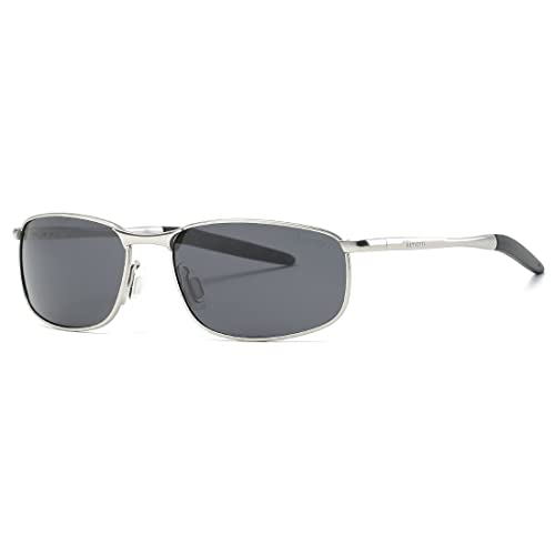 6ba075b1157 Kimorn Polarized Sunglasses For Men Retor Rectangle Frame Classic Sun  Glasses K0535