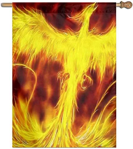 Jacklee Cool Phoenix Vogel Tuin Vlaggen Duurzame Niet-Fading Decoratieve Vlaggen Premium Verticale Huis Vlag Polyester Delicate Outdoor Banner voor Alle Seizoenen & Vakanties - 27