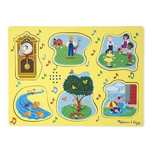 Melissa & Doug Sing-Along Nursery Rhymes Sound Puzzle  1
