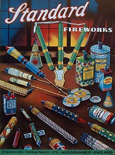 'N/A' Standard Fireworks Vintage Poster Advert Metal Sign Home Decor Man Shed Lovely Gift 10 x 14 Inch