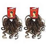 Swirlz Wrap Color Dark Brown (Pair of 2) - Aderans Hairpiece Overall Length 8' Elasticized Curly Hair Wrap Ponytail Schrunchy Updo Synthetic Fun Bun Around Pedazo de cabello