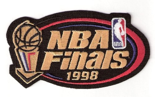 1998 NBA Finals Warm Up Jerseys Patch Chicago Bulls Jazz
