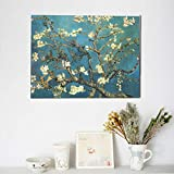 TMVFPYR Vincent Van Gogh Blossoming Almond Tree Canvas Prints Wall Art Picture Decor Artwork Paintings for Living Room Bedroom Home Decorations Modern Framed Ready to Hang
