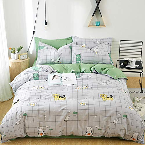 yaonuli Edredón de sábanas de algodón de Cuatro Piezas de algodón Dormitorio para Estudiantes 2.0 m de Cuatro Piezas