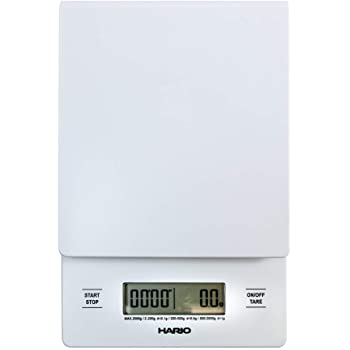 Hario V60 Drip Coffee Scale and Timer, White