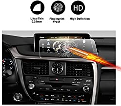 [2 Packs] Screen Protector for 2016 2017 Lexus RX350 RX450 H F 12.3 Inch HD Crystal Clear Enform in-Dash Navigation Touch PET Plastic High Clarity Anti-Glare Filters UV Protective Film