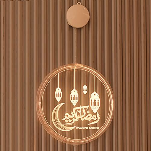 BKCYL Luz de Noche LED, Festival de Ramadán, Castillo, Luna, Luces Colgantes 3D, decoración de la habitación, Luces de decoración del Castillo, lámpara Musulmana islámica Eid