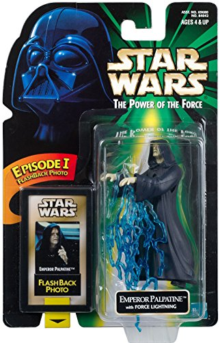Hasbro Emperor Palpatine with Force Lightning & Flashback Photo Return of The Jedi - Star Wars Power of The Force Collection Kenner