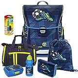 Soccer Goal - Fußball - Baggymax FABBY Leicht-Schulranzen Set 7tlg. mit Sporttasche, BROTDOSE und TRINKFLASCHE - SCHREIBLERNFÜLLER GRATIS DAZU !
