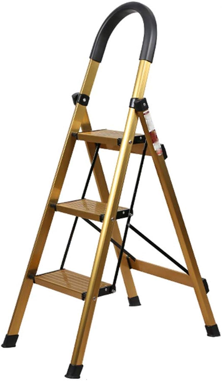 Teng Peng Step Stool - Step Stool Portable Non-Slip Wide Pedal Home Step Stool Anti-Slip Stable Multi-Function Folding Multi-Function Ladder (Size   3step Ladder)