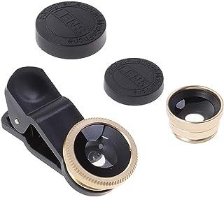 Hemobllo Portable Cell Phone Camera Lens Super Wide Angle Lens Macro Lens Fisheye Lens Clip on 3 in 1 Mobile Phone Lens Co...