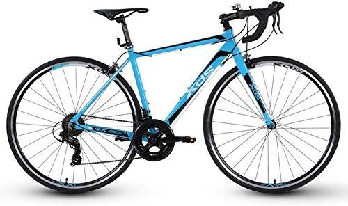 LQH 14-Gang-Rennrad, Erwachsene Männer multifunktionale Aluminium City-Bikes, Rennscheibenbremsen, ideal for Cross-Country-Straße oder Offroad-Langlauf- (Farbe: blau) (Color : Blue)